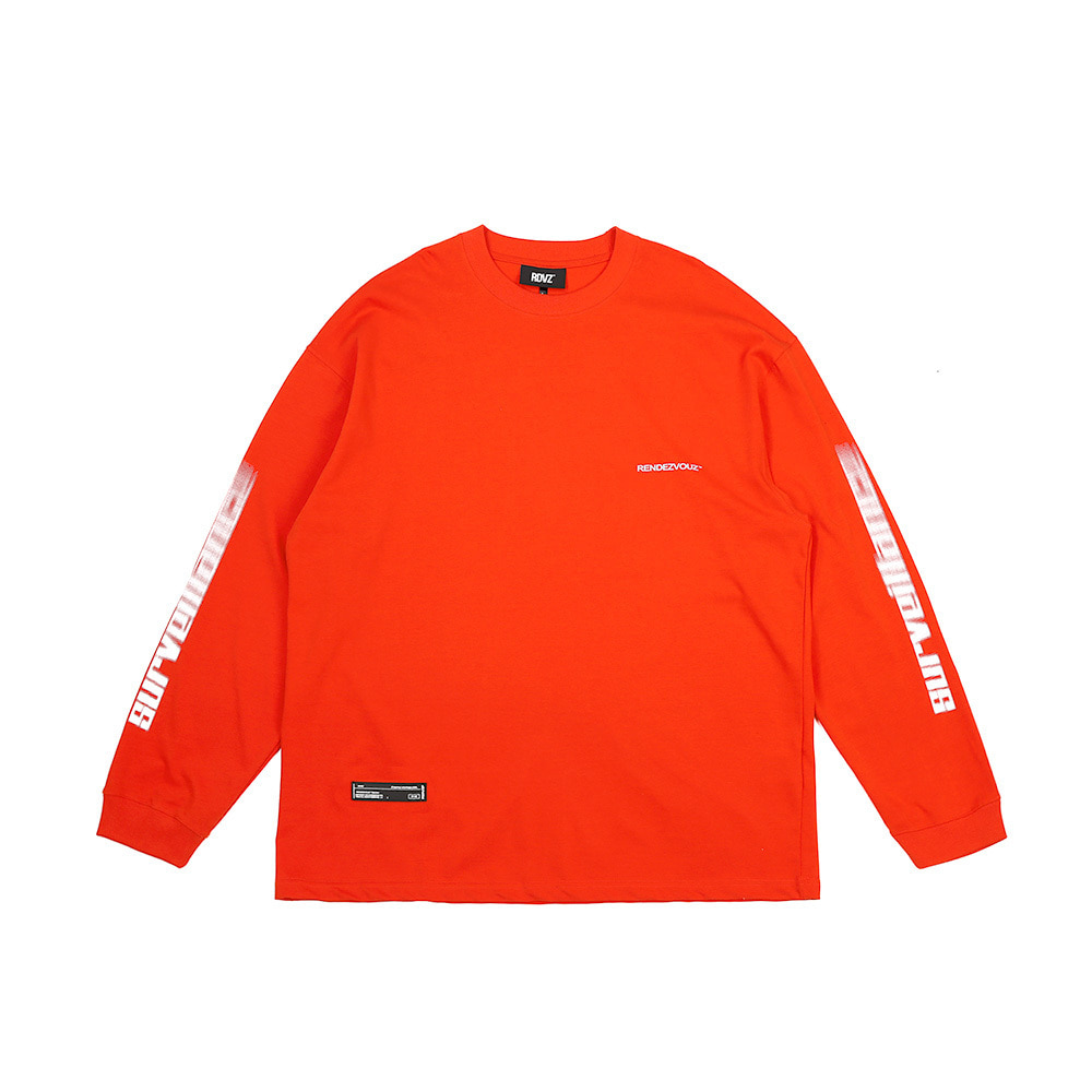 랑데부 ARM SURVEIL LONG SLEEVE ORANGE