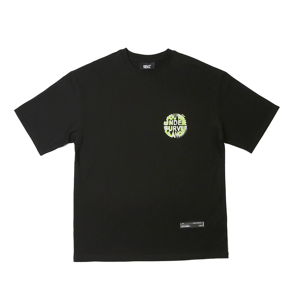 랑데부 CIRCLE LOGO T-SHIRTS BLACK