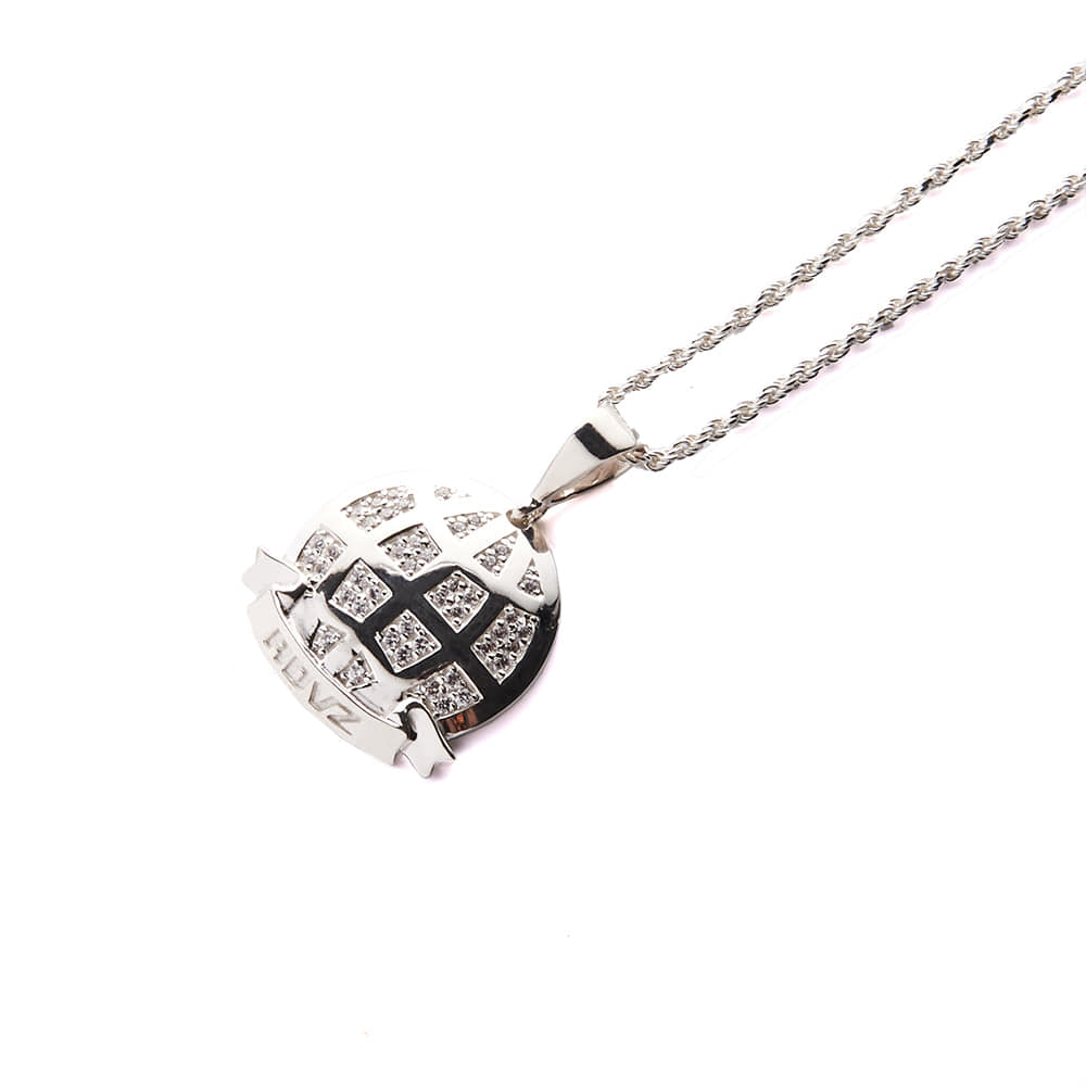 랑데부 GLOBAL CUBIC NECKLACE SILVER