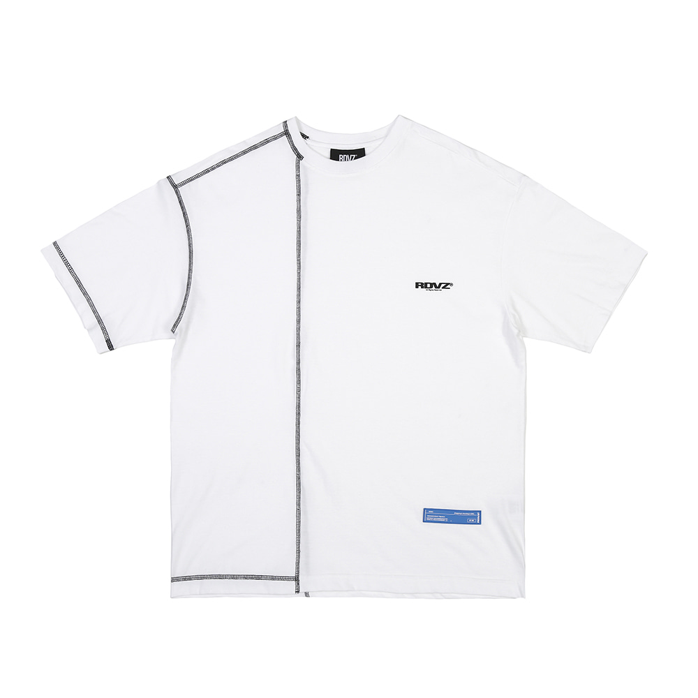 랑데부 COVERSTITCH T-SHIRTS WHITE