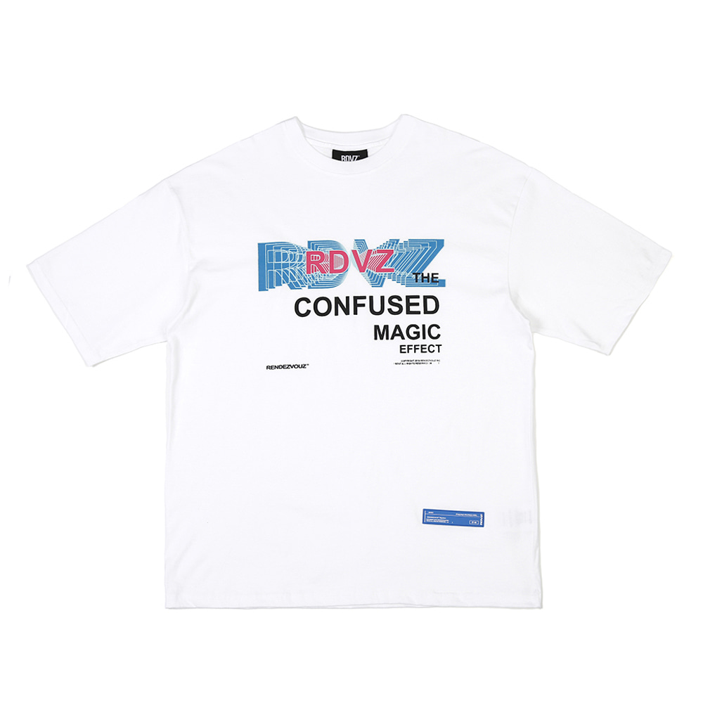 랑데부 THE CONFUSED T-SHIRTS WHITE