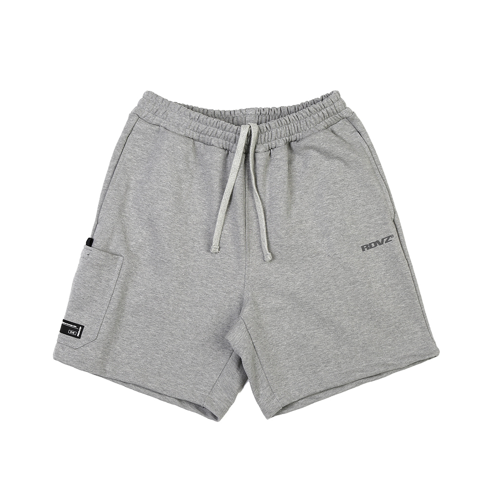 랑데부 SIDE POCKET SWEAT SHORT GREY