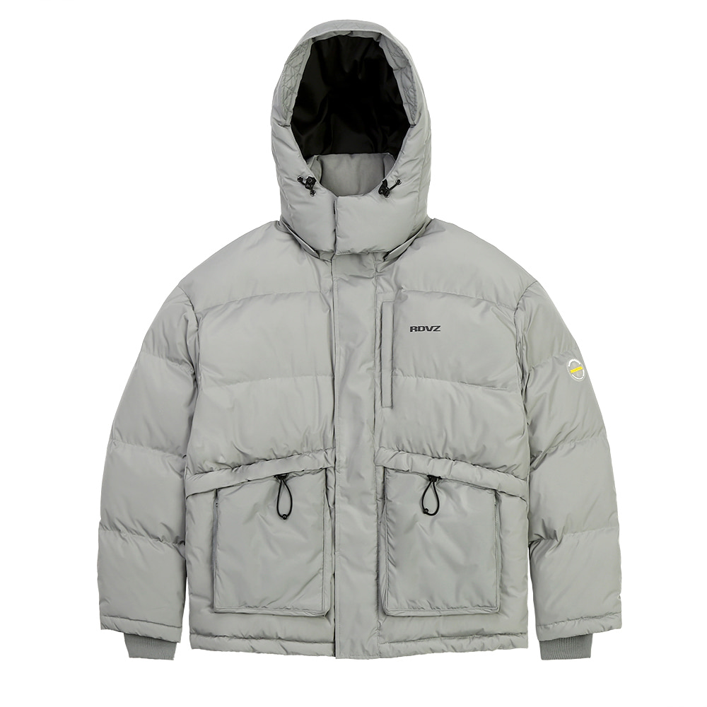 랑데부 PSYCHEDELIC DOWN JACKET GREY