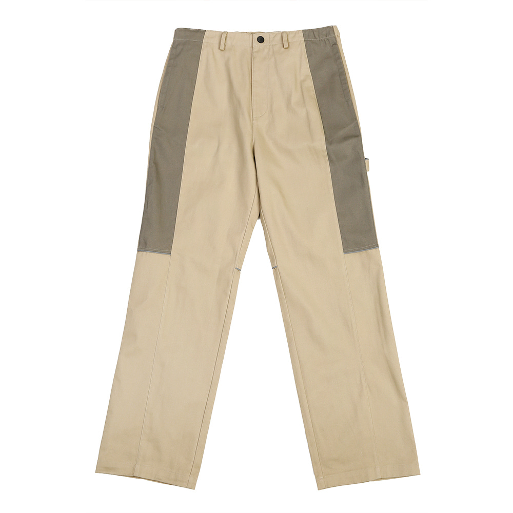 랑데부 BLOCK WORK PANTS BEIGE