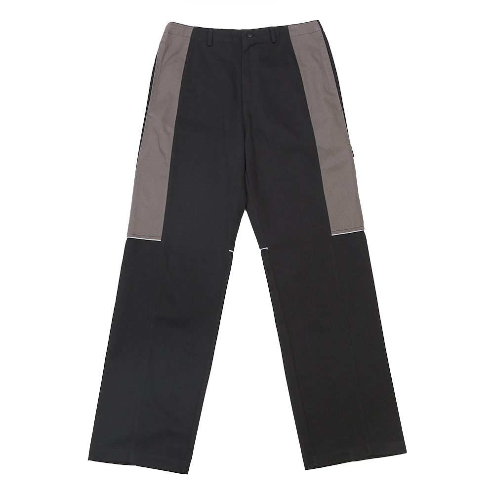 랑데부 BLOCK WORK PANTS BLACK