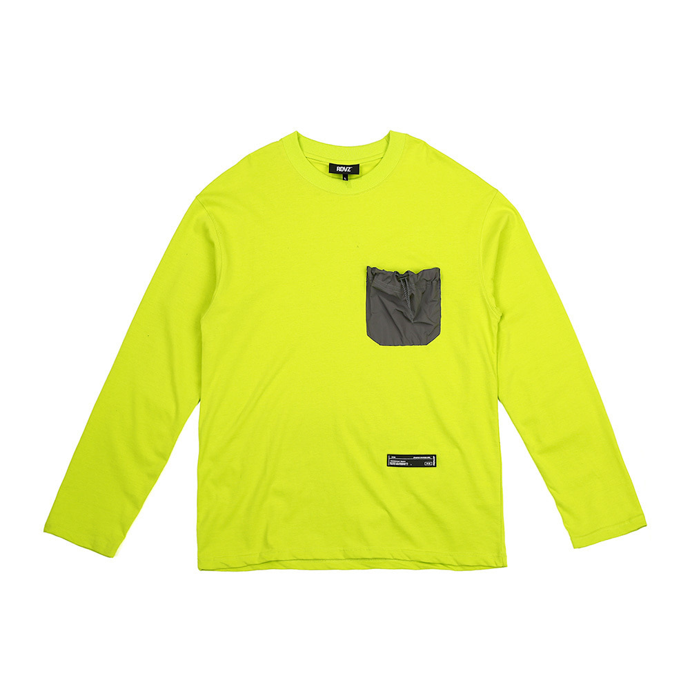 랑데부 STRING POCKET LONG SLEEVE LIME